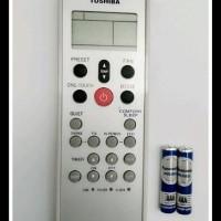 REMOT/REMOTE AC TOSHIBA WC-L03SE - Free 2 Pcs Baterai