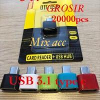 RAINBOW OTG Type C to USB Port / OTG Plug Connector RAINBOW - Biru Mud