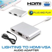 Lightning to vga + audio / to hdmi 2 in 1