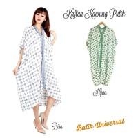 Harga top kaftan batik kawung putih fatimah eliza dress terusan | Pembandingharga.com