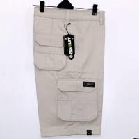 celana cargo pendek cream size 29-34