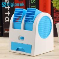 ac duduk mini portable - double blower mini ac - kipas angin [new]