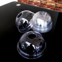 Tutup Gelas Plastik Bening Cembung (Dome) PET. PROMO AKHIR TAHUN!!!