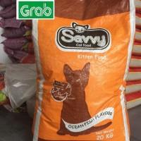 GOJEK savvy kitten 20kg makanan anak kucing cat food 20 kg no whiskas