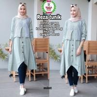 reza atasan tunik blouse wanita muslim crepe kekinian terbaru