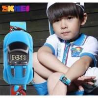Jam Tangan LED Anak - Anak Bentuk Mobil SKMEI