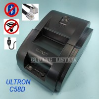 Printer Receipt Struk Thermal 58mm USB Cable NON Bluetooth Ultron C58D