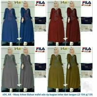 Gamis Kekinian Maxi Dress Fashion Hijabers Selebgram Muslimah Simpel