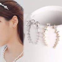 Anting stud tusuk berlian diamond emas Crystal star earrings