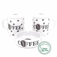 NEW 2 Pcs Cangkir Tutup Asbak Print Coffee Mug Teh Gelas Kopi TERLARI