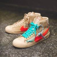 Sepatu Sneakers Nike Blazer Mid X Off White Cream