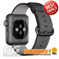 Tali Jam Tangan Nylon Apple Watch Series 1-2-3 - 38mm - Black White
