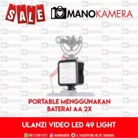 Ulanzi Mini LED 49 Video Light Baterai AA 2x Portable