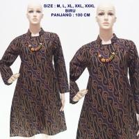 Tunik Batik Seno Irengan Biru DSC03957