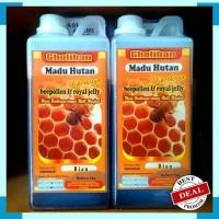Harga asli madu hutan riau gholiban 1000 gr 1kg plus bee pollen royal | Pembandingharga.com
