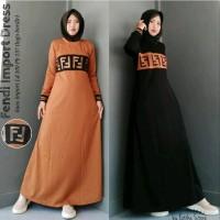 Baju Muslimah Maxi Wanita Fendi Dress Terbaru yang Lagi Hits