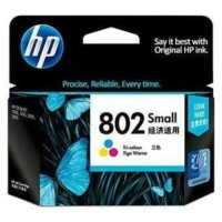 Cartridge Printer HP 802 Colour ink original warna/ Color