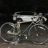 Sepeda Balap Road Bike Chromoly Sram Rival 50 Warna Titanium