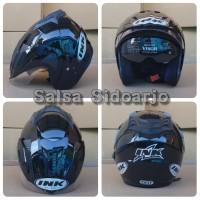 Helm INK CX Model T1 Double Visor (2kaca) grade ori - Hitam Kilap