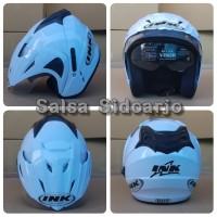Helm INK CX Model T1 Double Visor grade ori - Putih