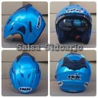 Helm INK CX Model T1 Double Visor grade ori - Ice Blue
