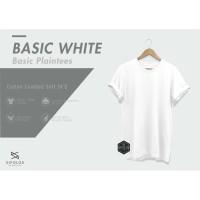 BASIC WHITE KAOS POLOS COTTON COMBED 24'S (214)