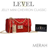 HANDBAGKU TAS LEVEL JELLY DOFF MINI CHEVRON CLASSIC fashion korea