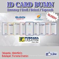 id card BUMN emoney etoll brizzi tapcash custom kartu glossy mengkilap