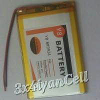 Baterai/Battery Tablet China (5,5cm X 8,5cm) 2 Kabel