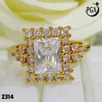 Cincin Berlian Mewah Terbaru Perhiasan Xuping Lapis Emas Terlaris Z314