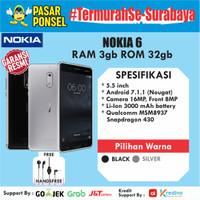 HP ANDROID NOKIA 6 RAM 3/32GB GARANSI RESMI NOKIA TERMURAH SE SURABAYA
