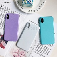 Silicone Candy color Glitter Case for Samsung Galaxy Note 9 8 S7 S6
