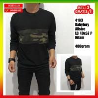 Harga baju kaos lengan panjang pria army hitam jaket sweater hoodie | Hargalu.com