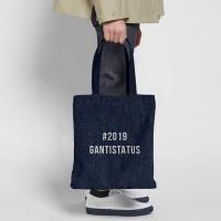 #2019GANTISTATUS Denim Tote Bag