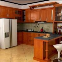Harga Per Meter Kitchen Set Minimalis kayu Jati Termurah Terbaru