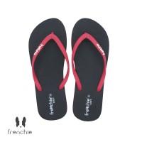 FRENCHIE Sandal Jepit Black Red COZY SCW04