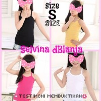 Tank Top Anak Size S 4-6 Tahun High Quality Basic Plain Tanktop Grosir