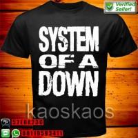 Kaos System Of A Down White Logo ukuran Anak No.0,1,2