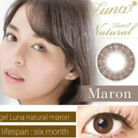 (Produk Baru!!) Softlens Soflens Gel Luna Natural Maron 14.5Mm