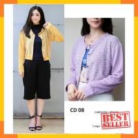 SECD08 - baju atasan sweater muslim cardigan cardi pastel wanita