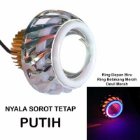Harga led lampu projector tipe u14 lp8 led proji light angel eye devil | Hargalu.com