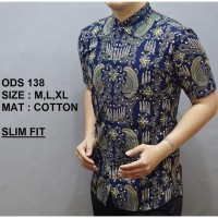 CITRANINGSIH SHOP Baju Batik Lengan Pendek Pria Fashion CITRANINGSIH