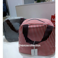 Miniso Simple Portable Stripe Lunch Bag Tas Bekal Makan