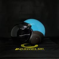 Helm Retro Bogo Biru cc Helm Bogo Helm Retro