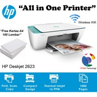 HP DeskJet Printer All in one 2623 Wifi - Green
