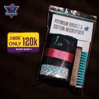 Rockickz Paket Bundle cotton microfiber + premium brush cleaning tool