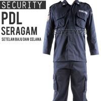 PDL Seragam Setelan Baju Celana Security Satpam Komplit Emblem Jakarta