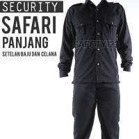 SS1 Safari Panjang Setelan Set Baju Celana Security Satpam Hitam Murah