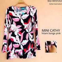 Baju Hamil Atasan Lengan Panjang Blouse Hamil Dan Menyusui Mini Cathy