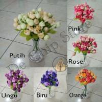 Artificial Flower - Bunga mini Rose Buds - Bunga Mawar Kuncup